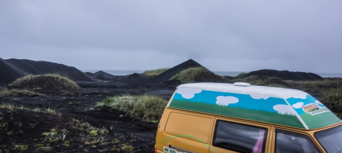 Iceland Day One – Waterfalls and stuck in the sand