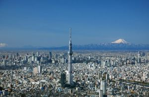 Skytree and Mt. Fuji over Tokyo.  (Not my pic sadly)