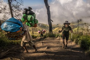 The hiking is hard, but seeing the porters carry 60 pound loads