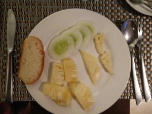 My white breakfast.