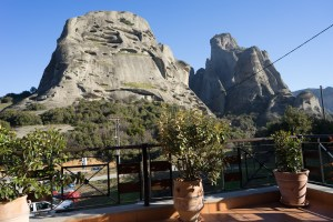The view from our hotel in Meteora