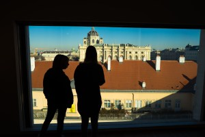 A view point in the Leopold museum.