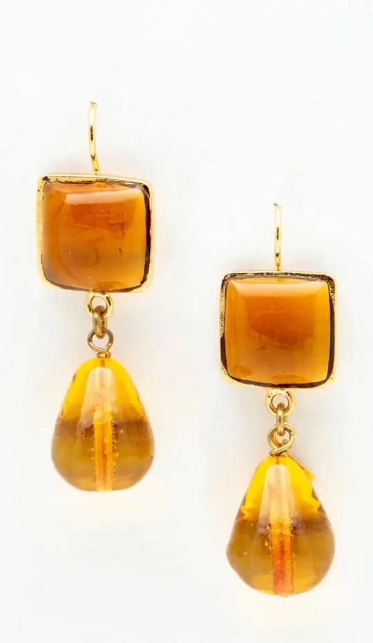 Amber yellow Loulou De La Falaise earrings