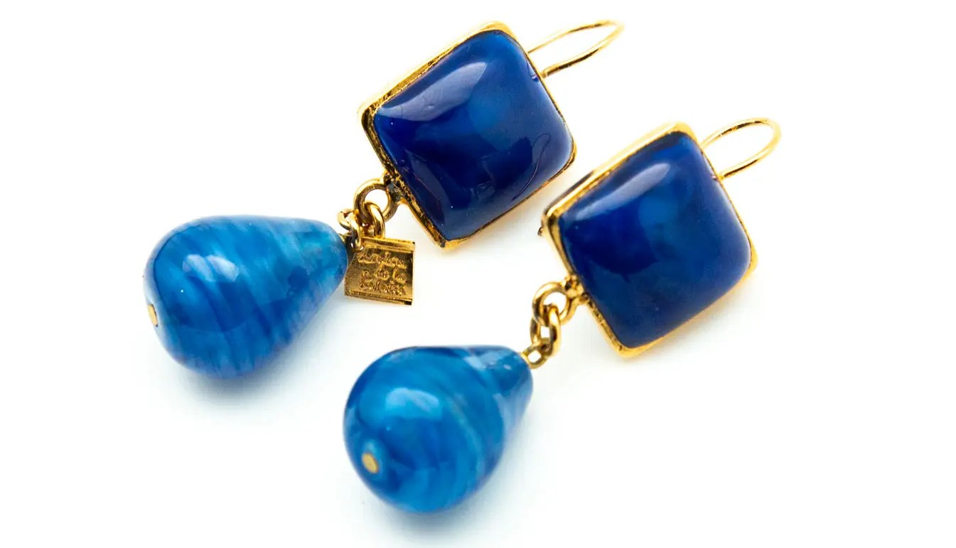 Loulou De La Falaise blue earrings