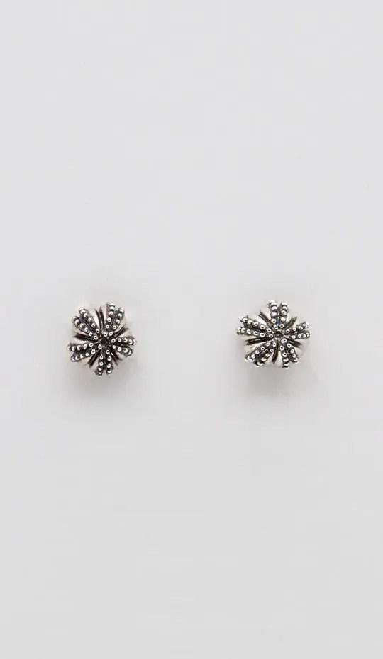 Silver urchin stud earring