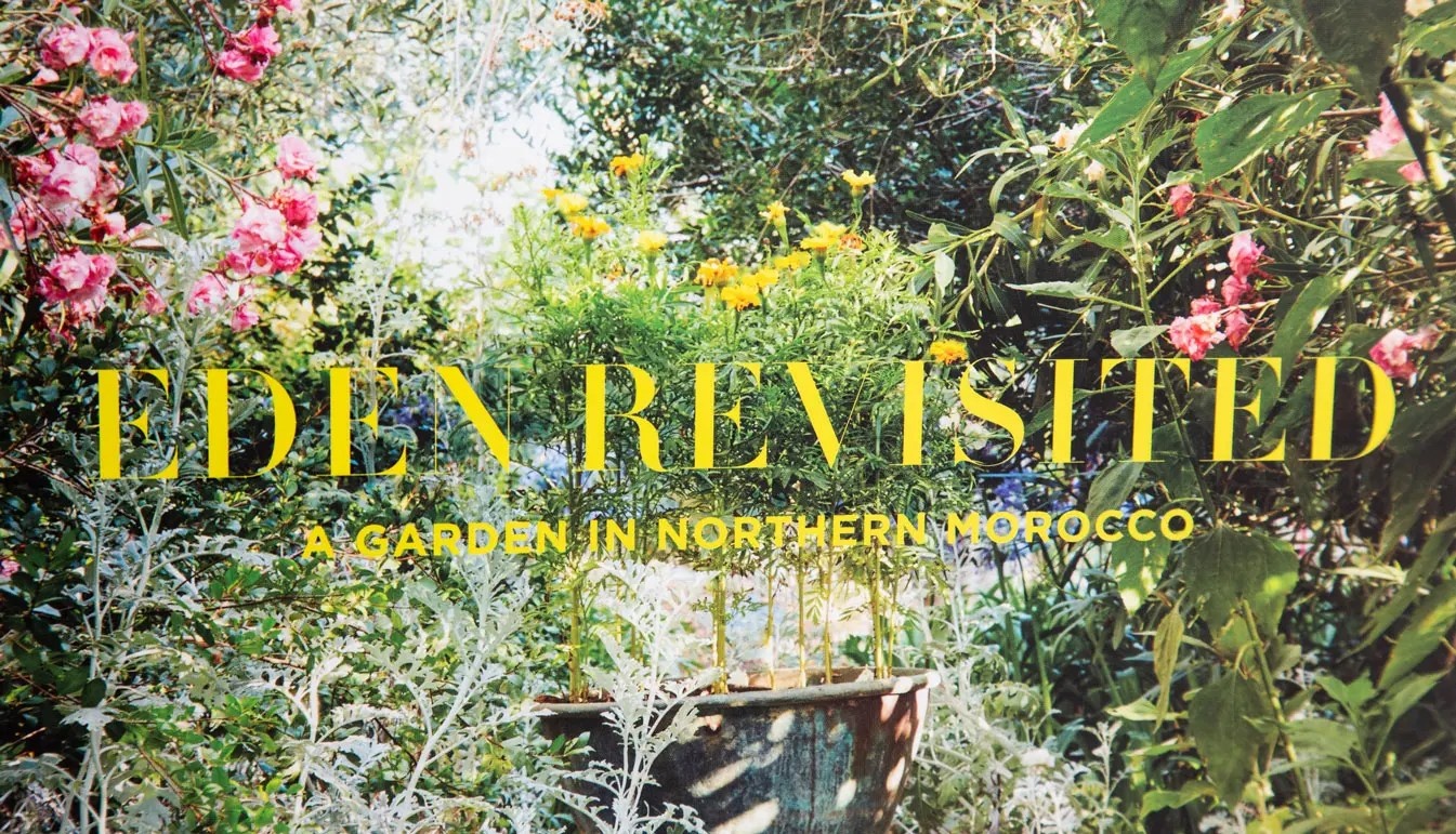 zoom on the cover of a book about the rohuna garden in the north of Morocco