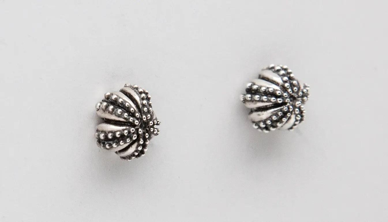 Sea urchin stud earrings