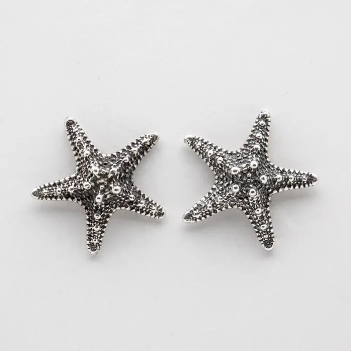 Sea urchin stud earrings, exclusively made in NYC for Creel and Gow