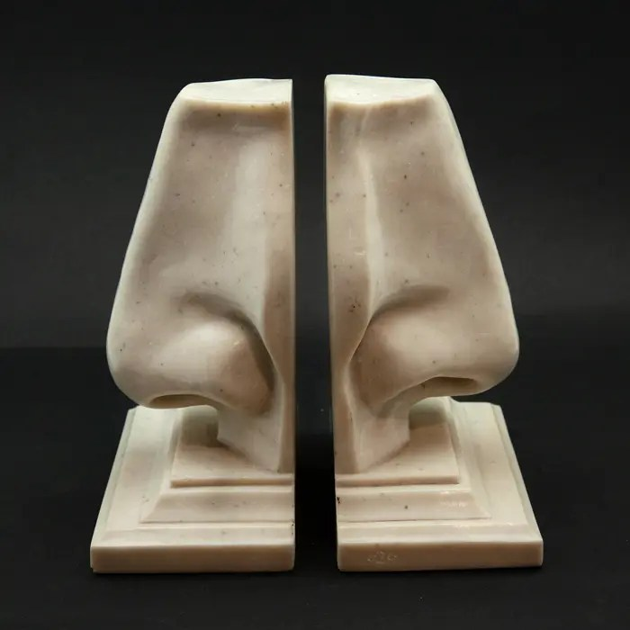 Pair of nose-shaped bookends