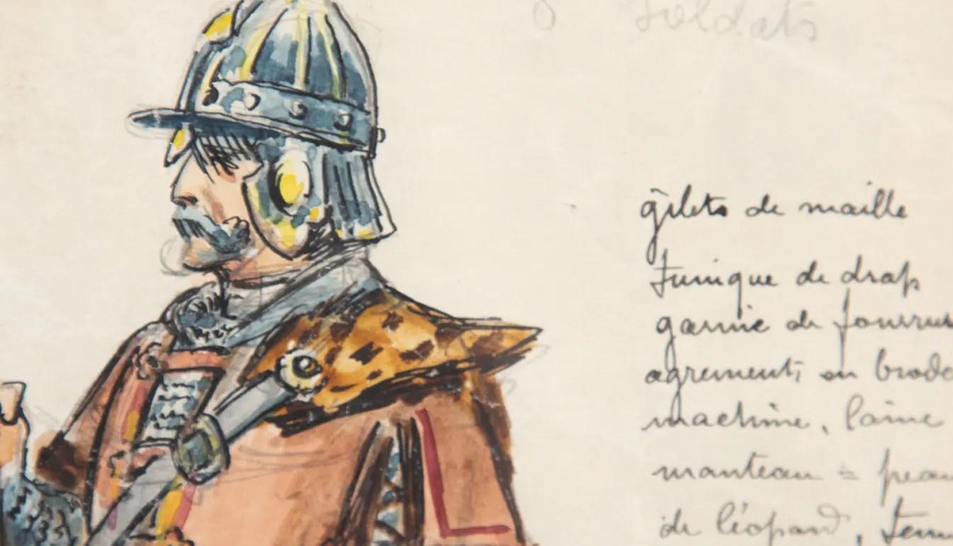 illustration of opera man in costume