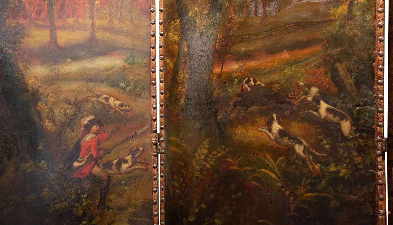 painted-screen-with-boar-hunt