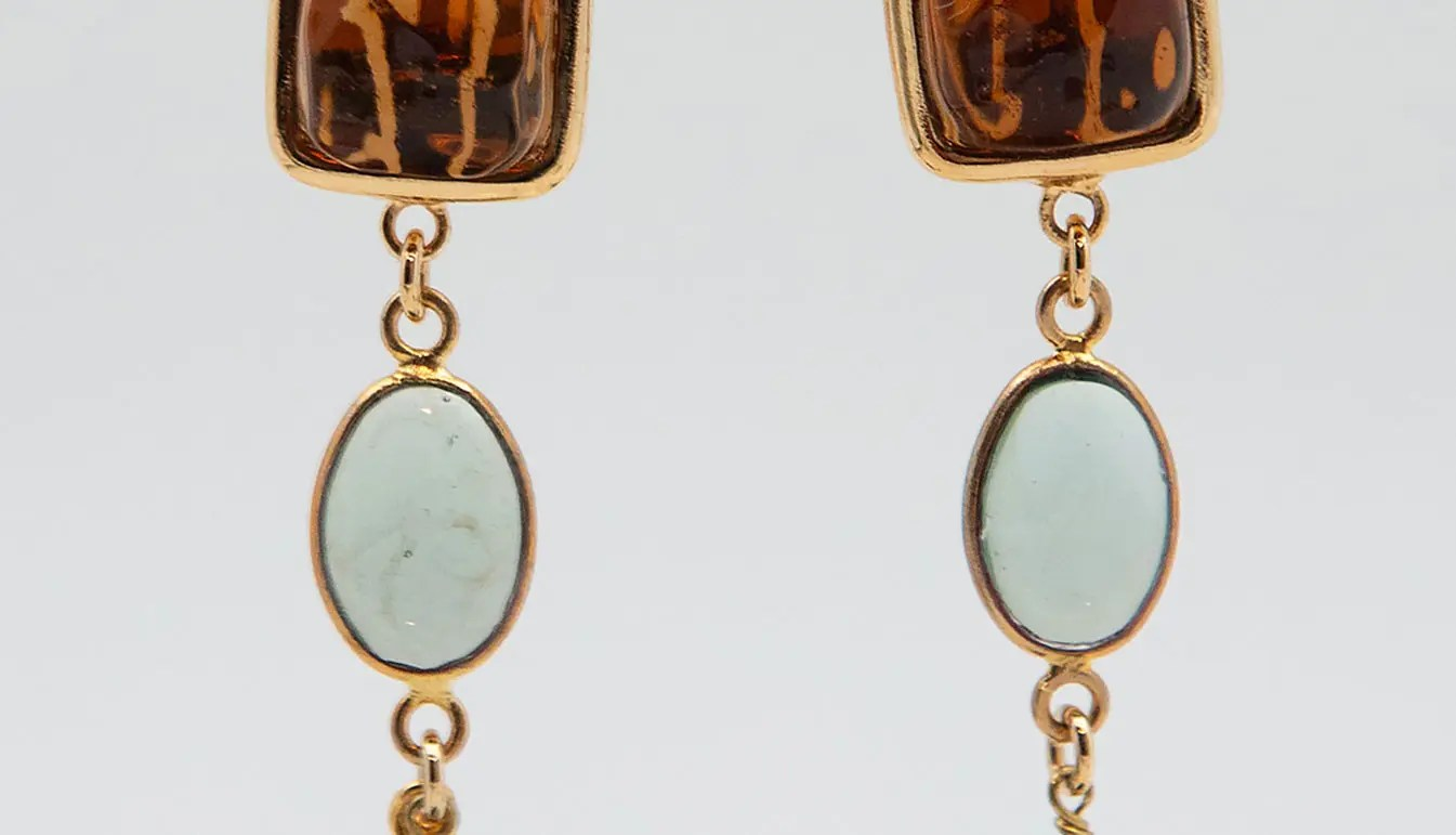 blue-amber-green-earrings-with-gold