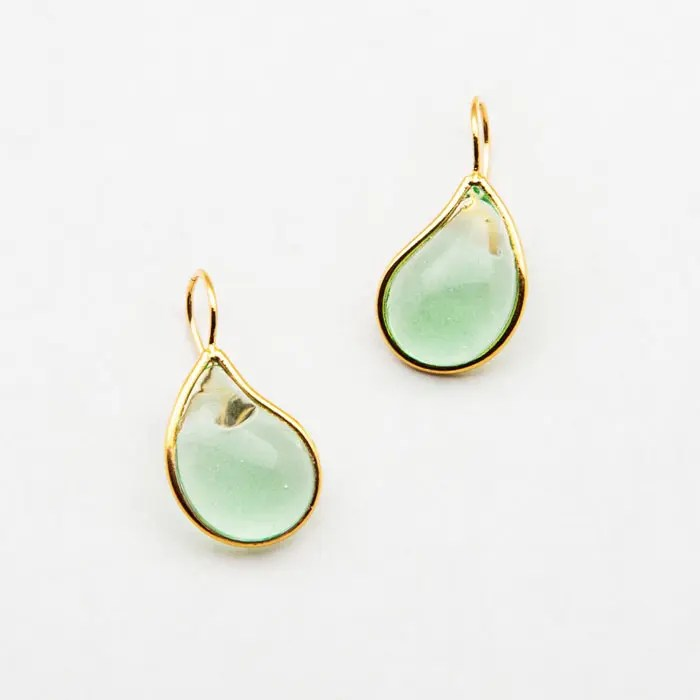 light-green-drop-earring
