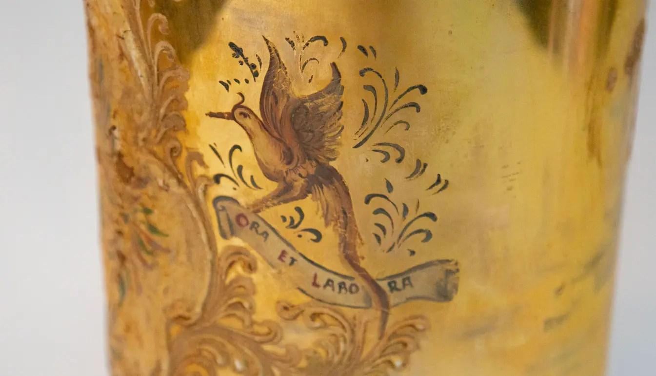 Gold-apothecary-jar-antique