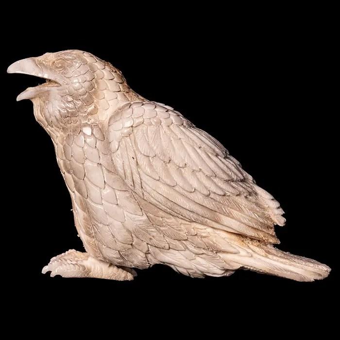 Moose Antler Carving of Eagle