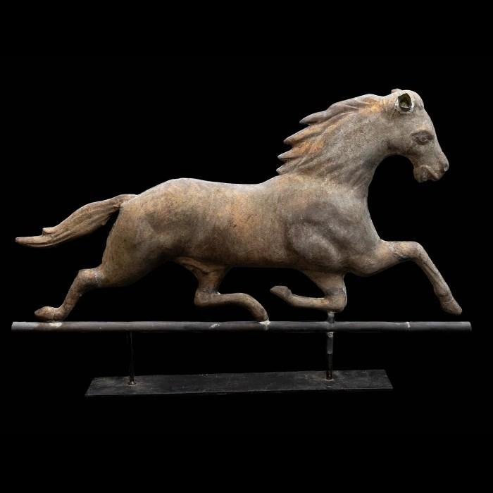 Mounted Full Bodied Gilt Horse Weathervane