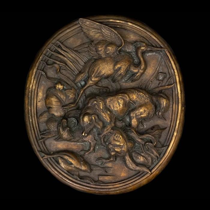19th Century Bronze Hunting Plaque