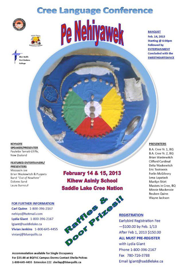 Saddle Lake Cree Language Conference