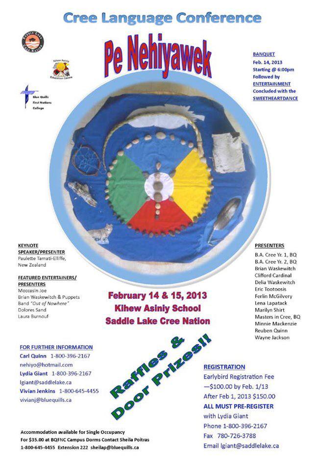 Saddle Lake Cree Language Conference