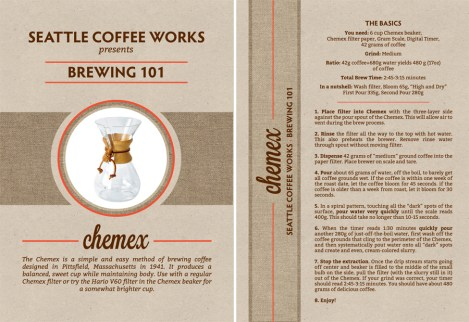 Seattle Coffee Works Brew Guide