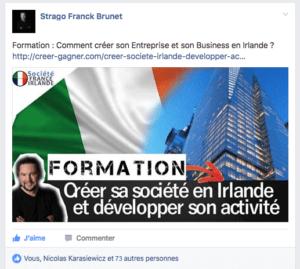 créer societe Irlande Facebook
