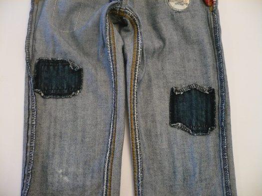 envers du pantalon réparé