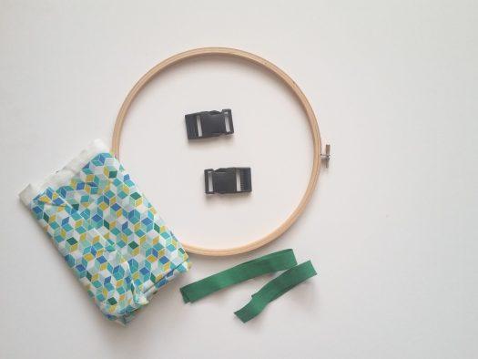 matériel pour un cadre d'habillage