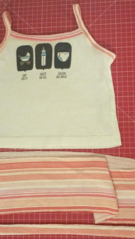 Tissus restant du tee-shirt et de la robe