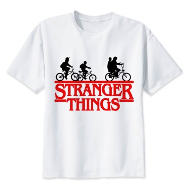 tee sirt stranger things groupe amis velos