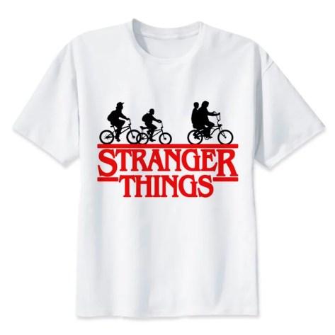 tee sirt stranger things groupe amis velos