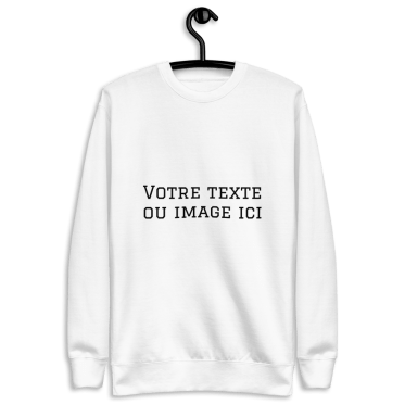 sweat personnalisable blanc