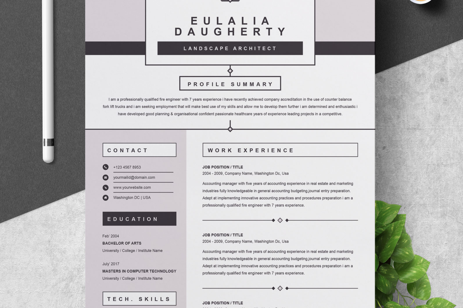 Professional resume template | resume, cv templates for ms word and pages | resume + cover letter + resume writing guide | instant download. Modern Resume Template Professional Creative Ms Word Apple Pages Cv Format Crella