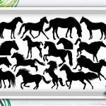 Horse Svg Cut File Animal Svg Silhouette Bundle Crella