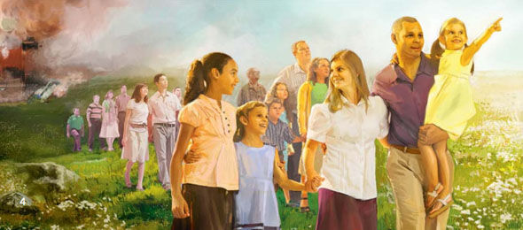 Image result for jehovah witness image of the world after death