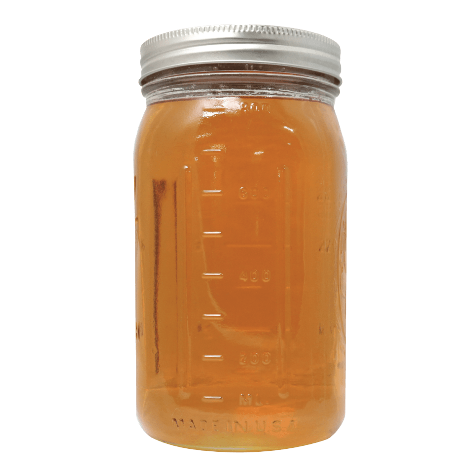 Jar full of High terpene extract. Orange- Yellow in color similar to honey.