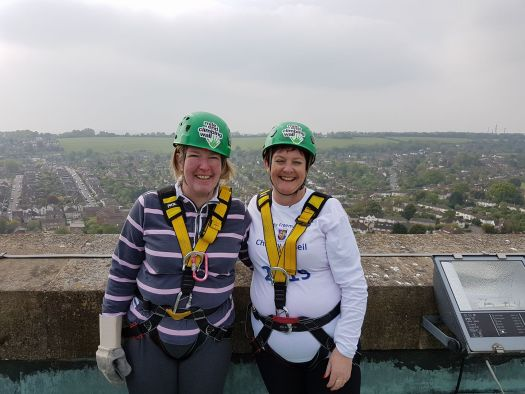 Surrey 2019 Festival Abseiled for RMBI