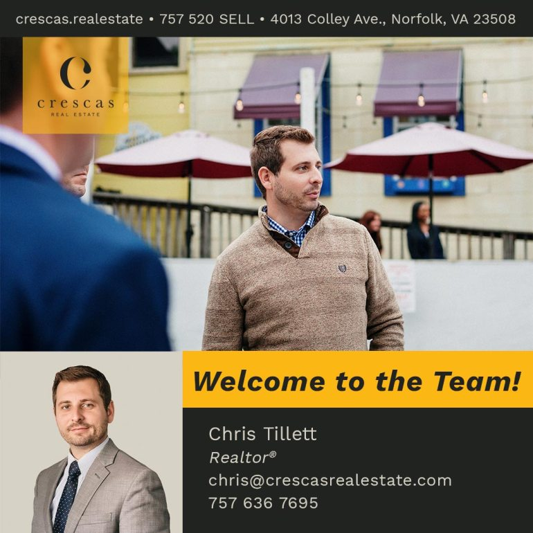 Welcome To The Team - Chris Tillett