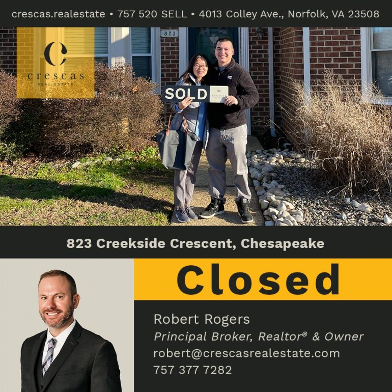 823 Creekside Crescent Chesapeake - Closed