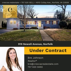 919 Newell Avenue Norfolk - Under Contract