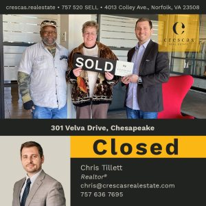301 Velva Drive Chesapeake - Closed