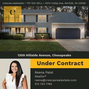 1309 Hillside Avenue Chesapeake - Under Contract