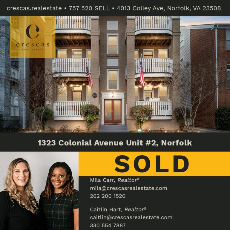 1323 Colonial Avenue Unit 2 Norfolk - Sold