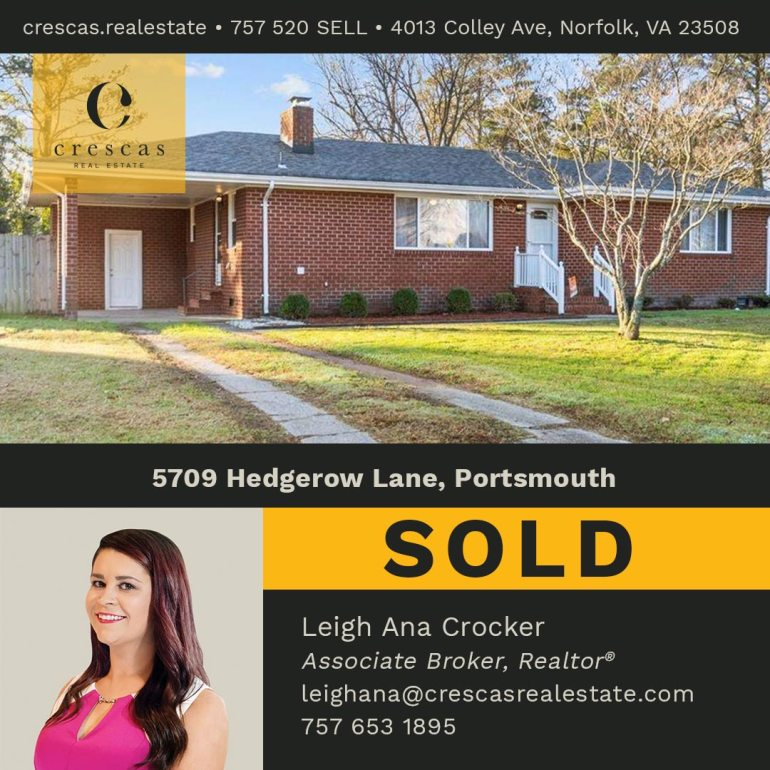 5709 Hedgerow Lane Portsmouth - Sold