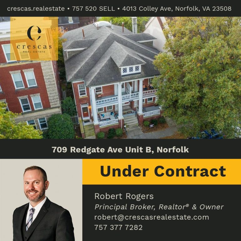 709 Redgate Ave Unit B Norfolk - Under Contract