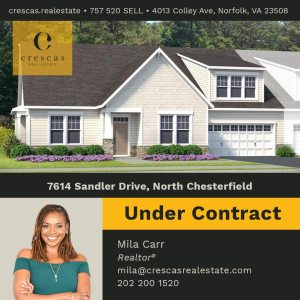 7614 Sandler Drive North Chesterfield - Under Contract