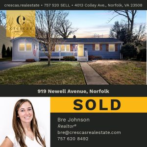 919 Newell Avenue Norfolk - Sold