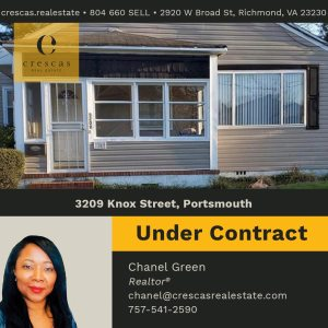 3209 Knox Street Portsmouth - Under Contract
