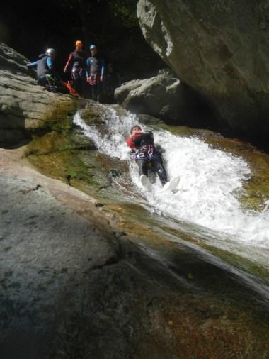 Canyoning à Caprie, piémont italien, sportif, à partir de 14 ans