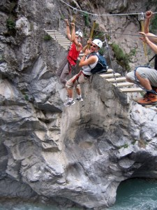 Via ferrata de Chateau-Queyras : initiation, à partir de 8 ans