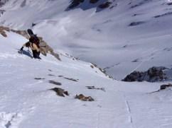 Pouzenc, sortie ski couloir